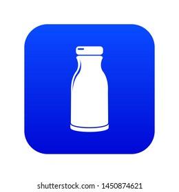 Bottle shampoo icon blue isolated on white background