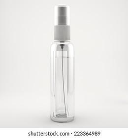 Bottle for spray. High resolution. 3D render
