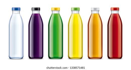 Bottles for Water, Juice, Lemonade and other drinks. 3d rendering