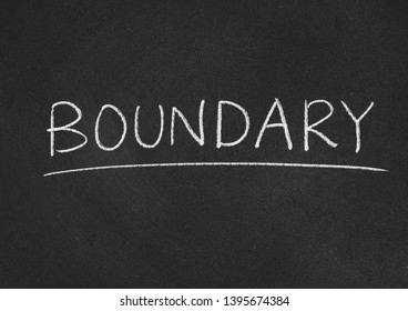 boundary concept word on a blackboard background