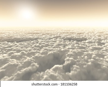 Boundless freedom above the clouds