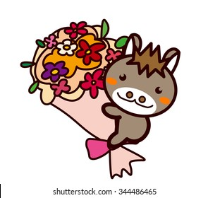 Bouquet and animal series