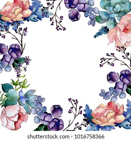 Flower Border Images Stock Photos Vectors Shutterstock