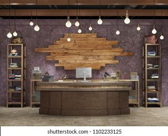 boutique interior 3d illustration