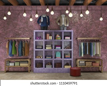 Clothes Shop Design Interior Images Stock Photos Vectors Shutterstock