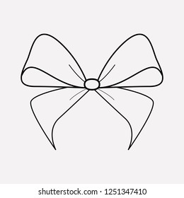Bowknot icon line element.  illustration of bowknot icon line isolated on clean background for your web mobile app logo design.