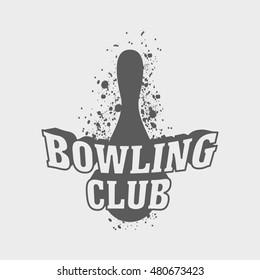 bowling logo symbol badge template ball stock vector royalty free