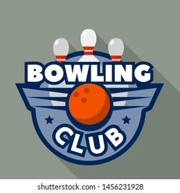 Bowling modern club logo. Flat illustration of bowling modern club logo for web design