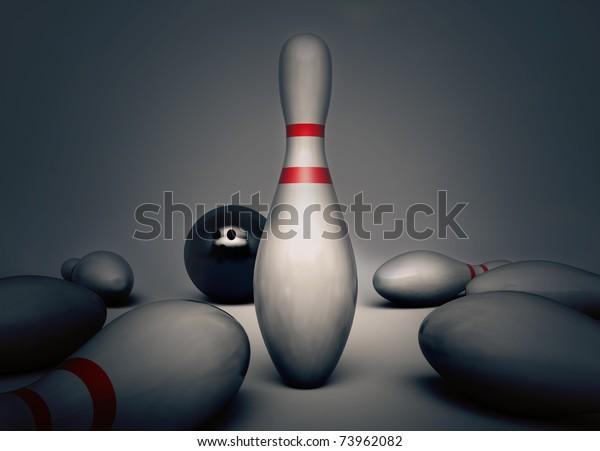 Bowling Scene/Digital Render