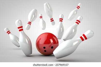 bowling strike 3D
