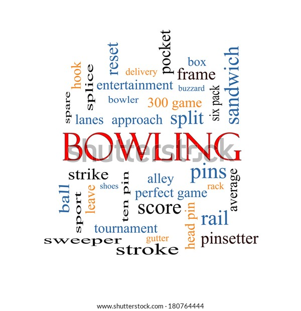 Bowling Word Cloud Concept Great Terms Stock Illustration