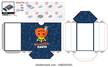 box casket with evil pumpkin king for Halloween. stock picture image
