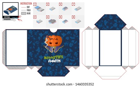 box casket with an evil pumpkin pirate for Halloween. stock picture image
