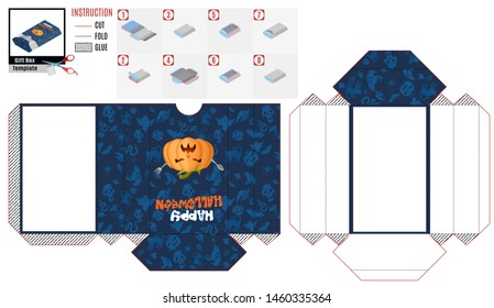 box casket with a hungry pumpkin for Halloween. stock picture image