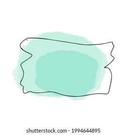Box, frame for text. Quote box icon. Quote text boxes. Blank grunge marker brush strokes background. JPEG illustration, white background