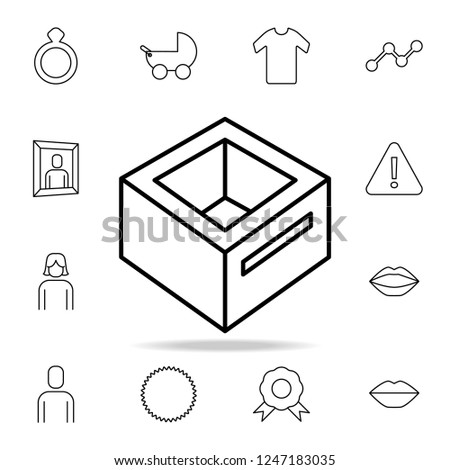 Royalty Free Stock Illustration Of Box Hole Icon Detailed Set Simple