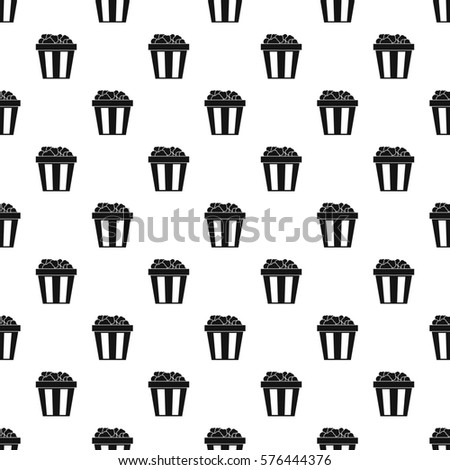 box popcorn pattern simple illustration popcorn stock illustration