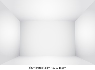 Box Top View. Inner Space of the Box. White Empty Room Interior illustration 3d