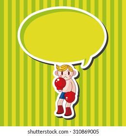 boxer, cartoon speech icon