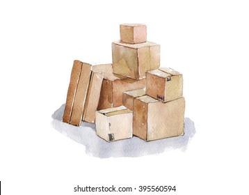 boxes storage logistics