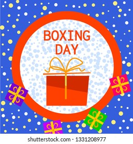 Boxing day concept background. Flat illustration of boxing day concept background for web design