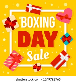 Boxing day sale concept background. Flat illustration of boxing day sale concept background for web design
