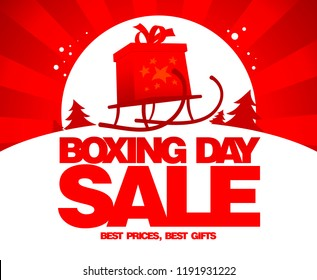 Boxing day sale design, raster version