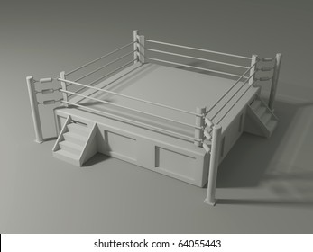 Wrestling Ring 3d Images, Stock Photos & Vectors | Shutterstock