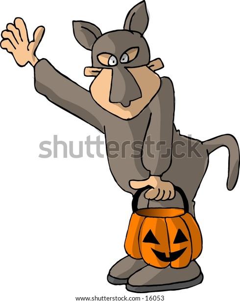Boy in an animal costume