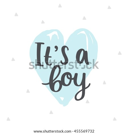 Boy baby shower invitation template pastel stock illustration its a boy baby shower invitation template pastel card with hearts and hand filmwisefo