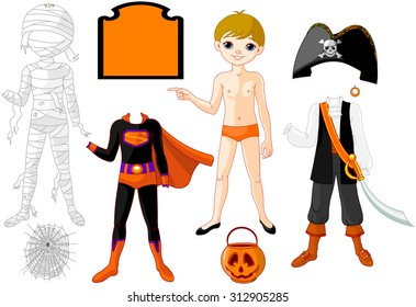 Boy with costume for Halloween Party