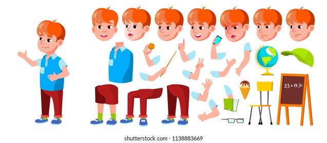 Boy Schoolboy Kid. Primary School  Illustration