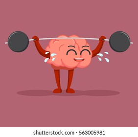 brain character lifting barbel
