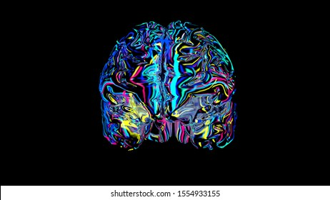 brain connections colorful, x-ray brain