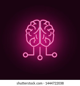 brain and exits neon icon. Elements of Idea set. Simple icon for websites, web design, mobile app, info graphics