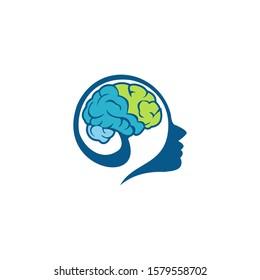 Brain illustration for logo, brand etc