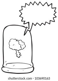 brain in jar cartoon