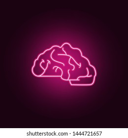 brain neon icon. Elements of Idea set. Simple icon for websites, web design, mobile app, info graphics