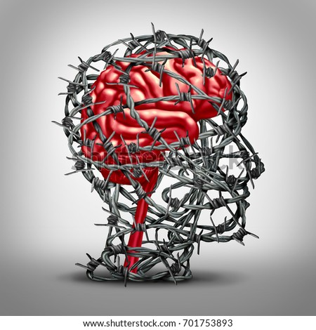 brain protection concept protecting mind icon stock illustrationbrain protection concept and protecting the mind icon as a mental health medicine idea with a