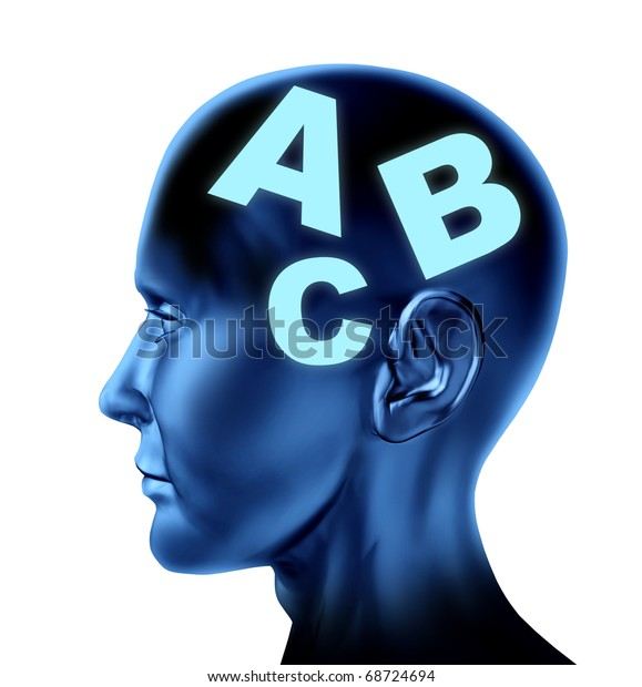 Brain speech reading writing therapy education isolated