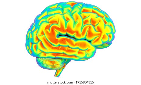 brain thermal imager 3d illustration