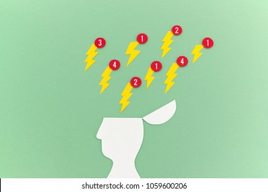 Brain under constant stress and distraction from notification alerts