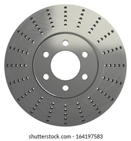 Brake disk. isolated. white background. 3d