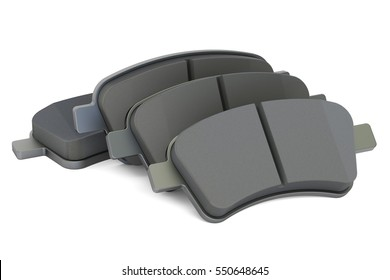 Brake pads, 3D rendering isolated on white background
