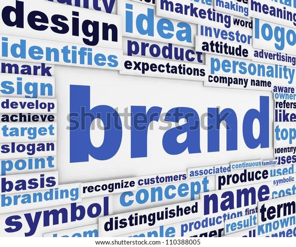 Brand slogan message design. Brand poster concept