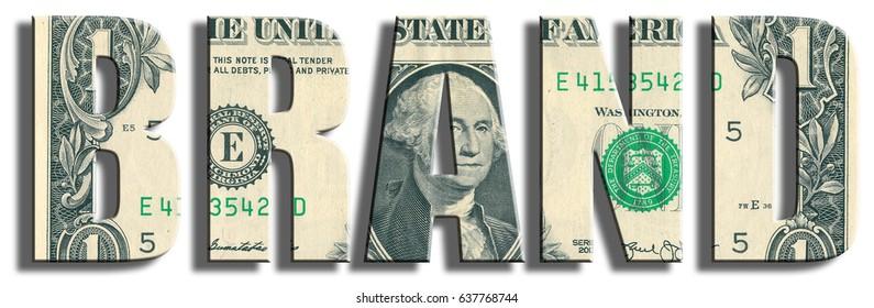 Brand. US Dollar texture.