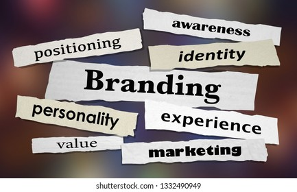 Branding Marketing Awareness Experience News Headlines 3d Illustration