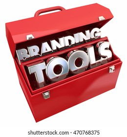 Branding Tools Marketing Company Business Awareness Toolbox 3d Illustration