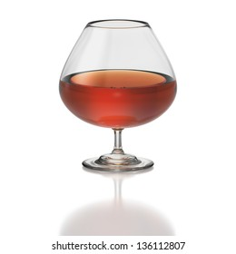 Brandy snifter or balloon on white background