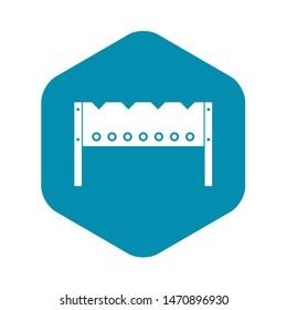 Brazier icon. Simple illustration of brazier icon for web